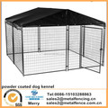 6'H x 10'W x 10'L sliver and black powder coated Modular dog Kennel with Cover and Frame