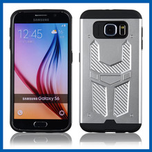 C&T Tough Armor Tech Satin Silver Metal Slate Dual Layer Ultimate Rugged Protective Case for Samsung Galaxy S6