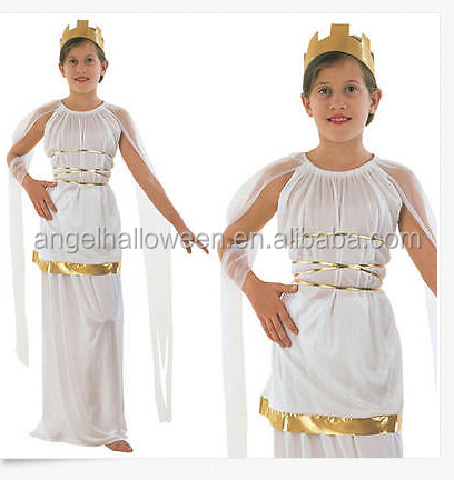 Childrens Grecian Fancy Dress Costume Toga Girls Kids Greek Goddess Outfit C012