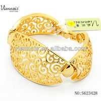 Gold jewellery designs Adjustable Bangle For African