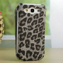 2013 Hot selling luxury design fashion leopard leather flip mobile phone case for samsung galaxy s3 i9300