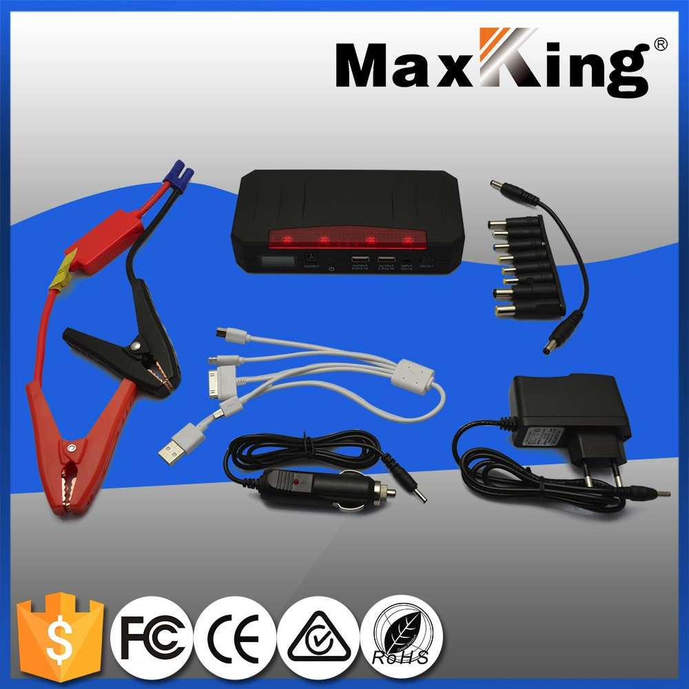 Wholesale portable heavy duty power bank jump starter car battery booster power pack for 12V car phones and laptop