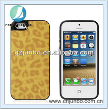 Brown Stylish Leopard Pattern Design PU Leather Case Cover for iPhone 5C