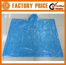 2017 Logo Printed Promotional Transparent PVC Raincoat Disposable Plastic Raincoat