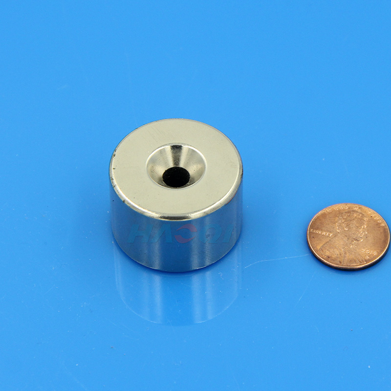 countersunk hole special shaped neodymium magnet
