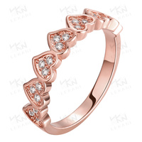 New trend heart love dubai gold ring designs models finger ring for women