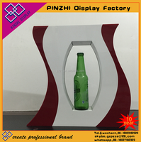 High quality hot sale acrylic beer display stand racks wine bottle holder showcase