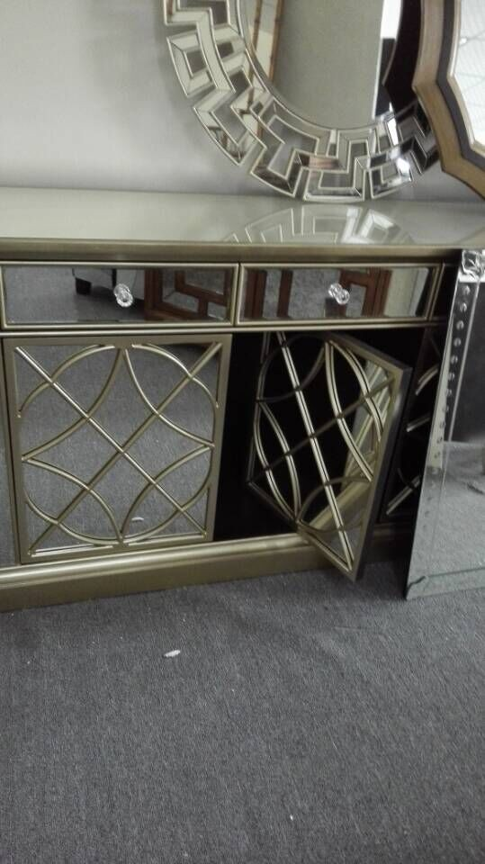 Glass Mirrored Dining Room Buffet Hutch Cabinet Mr 4g0139 Buy Us Mirrored Dining Room Hutch