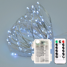 Christmas lighting copper wire Green string lights multicolor led battery powered string light