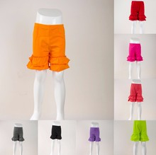 2016 New design Fashion boutique children baby toddler infant girls summer knit cotton short pant cheap kids ruffle shorts