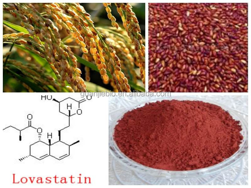 Organic high quality Red Yeast Rice Powder / Red Yeast Rice Extract with competitive price / 0.5%~1.5% Lovastatin