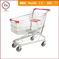 American metal shopping cart ,shopping trolley for supermarket