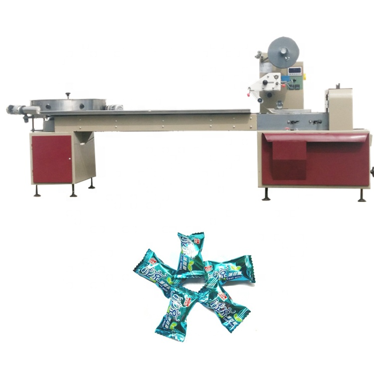 Horizontal packing machine YB-800 automatic pillow cube sugar wrapping machine