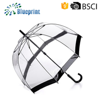 Clear safety durable popular transparent PVC umbrella