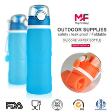 Light Weight BPA Free Silicone Water Canteen Leak Proof Foldable Drink Bottle
