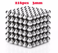 5mm 216pcs Neodymium Magnetic Balls Spheres Beads Magic Cube Magnets vacuum package Kid's toy gift Puzzle