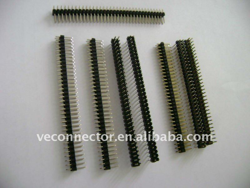 PCB applicaton gold plated long pin 2.54mm pin header
