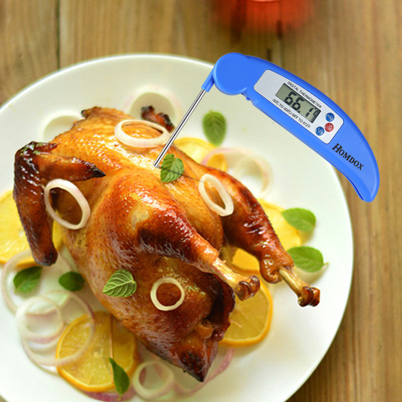Best Ultra Fast Instant Read Digital Barbecue Meat Thermometer With Collapsible Probe AM001147