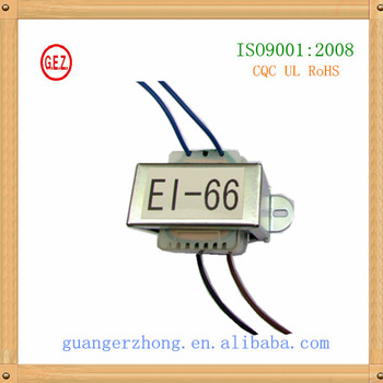 EI 66 series 20.0va to 50.0va high amp transformer