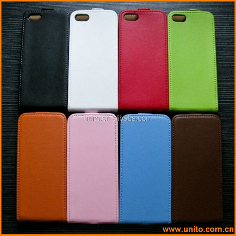 Genuine flip leather case for Samsung Galaxy S5 I9600,up and down open design