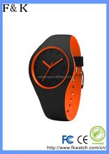 Fashion Geneva Silicone Crystal Quartz Watch Ladies Women Jelly Wrist Watch