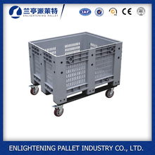 HDPE eco friendly plastic pallet container/plastic box pallet with lid