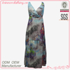 Front wrapped sleeveless design dress party for tall women