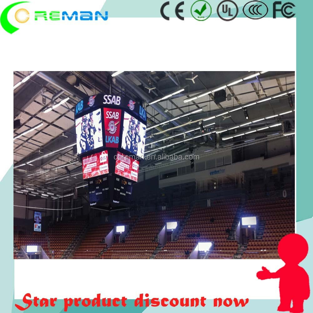 europe aliexpress Stadium sports entertainment led display screen / sports arena led displayer