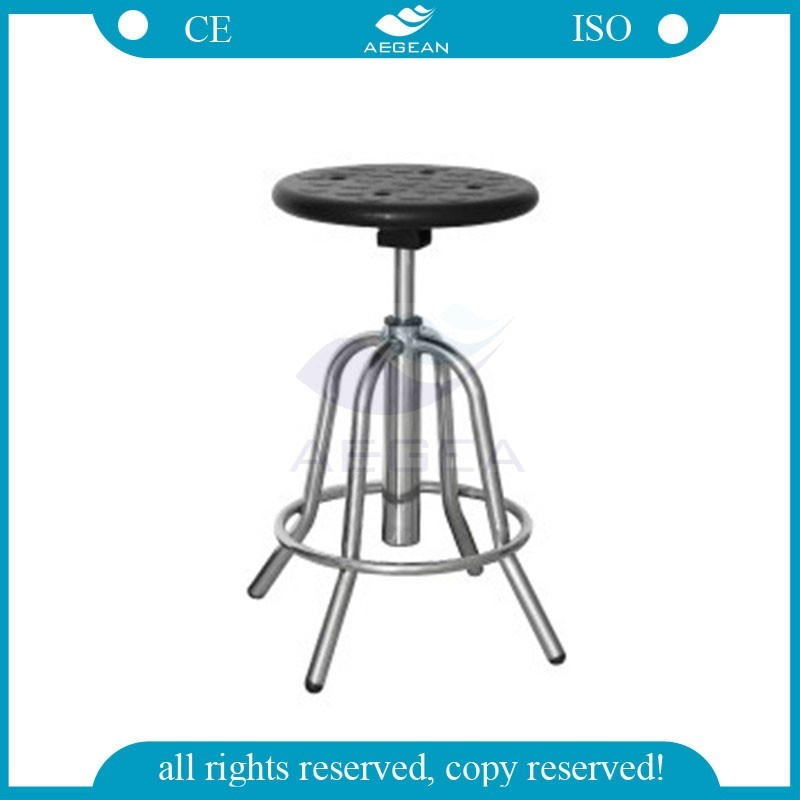 AG-NS002 Stainless Steel base doctor height adjustable lab stool