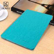 2018 Korea top sell dust protective dust-proof folding leather stand tablet pure color case for ipad air