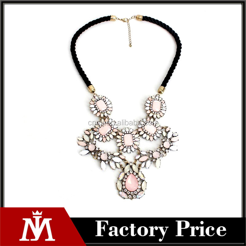 Maxi Flower Pendant Choker Necklace 2016 New Trendy Fashion Boho Jewelry Statement Necklace Women Accessories