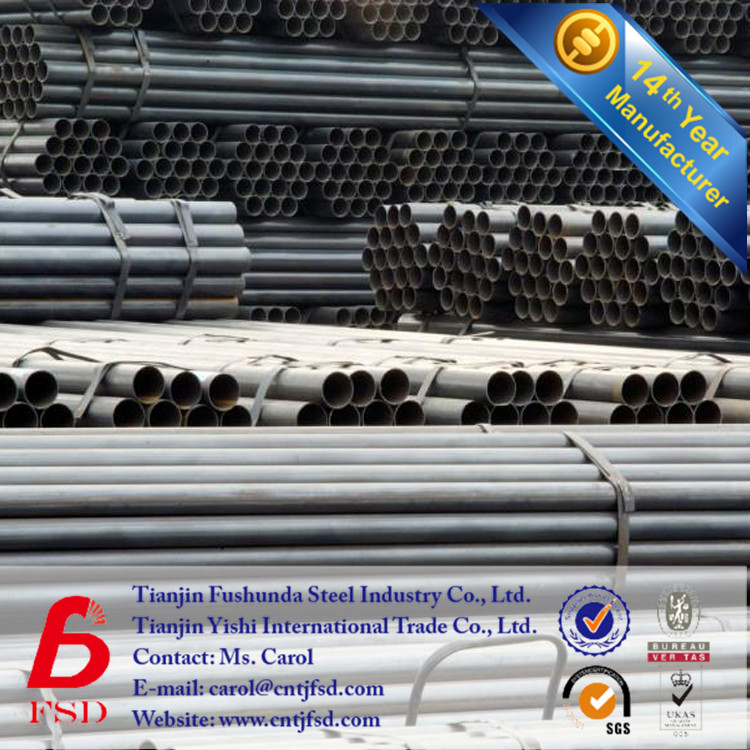 14 Years Factory Black Pipe Welded Pipe Welded Steel Pipe iron ore specifications