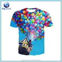 All over sublimation t sirt printing,promotion t shirt custom,wholesale cheap t shirt sublimation
