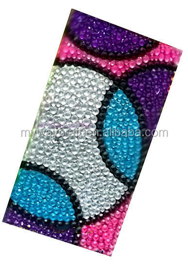 High quality custom 3d crystal sticker,DIY rhinestone sticker