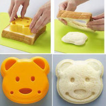 Little Bear Shape Sandwich Mold Bread Biscuits Embossed Device Cake Mold Maker DIY Mold Cutter GYH