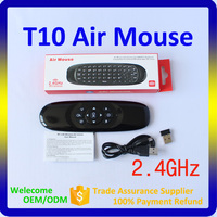 2016 new QWERTY keyboard Wireless Air Fly Mouse T10 Compatible with Android TV Box, Smart TV, PC, IPTV Box