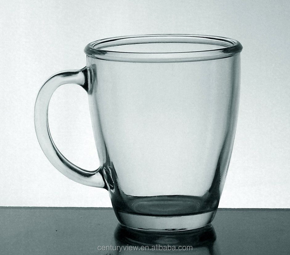 Wholesale Clear Drinking Unique Shaped Glass Mug With