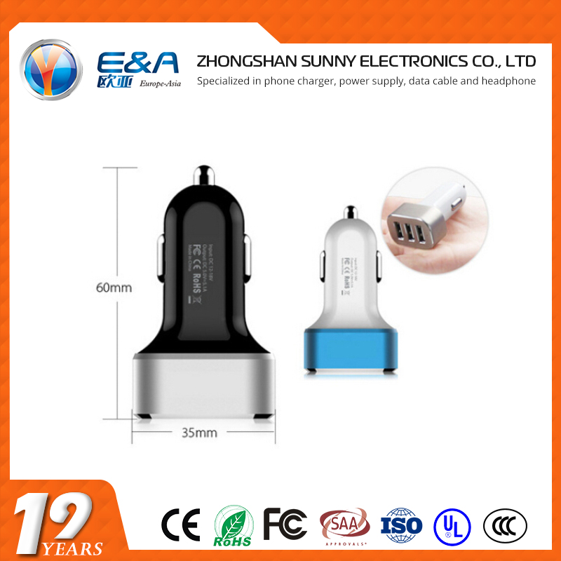 Good car charger 3usb qc 2.0