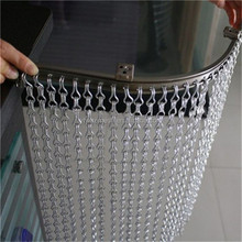 Fine aluminum chain link Insect & Fly Screen, room divider