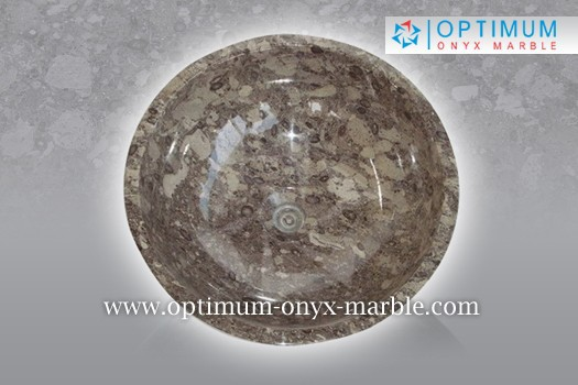 OCEANIC CORAL MARBLE SINK - 004