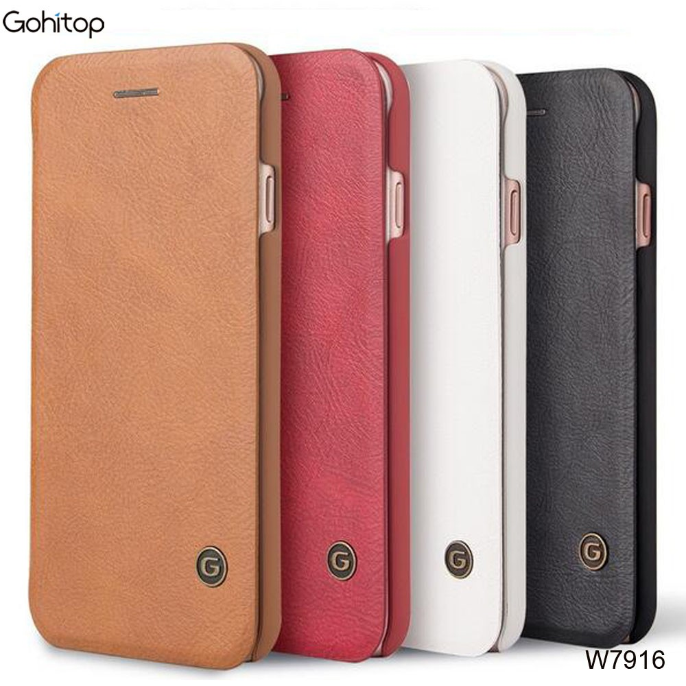 for iPhone 7 Leather Case, Luxury Flip Wallet Case for iPhone 7