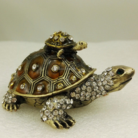 Brown Mum Baby Mini Tortoise Trinket