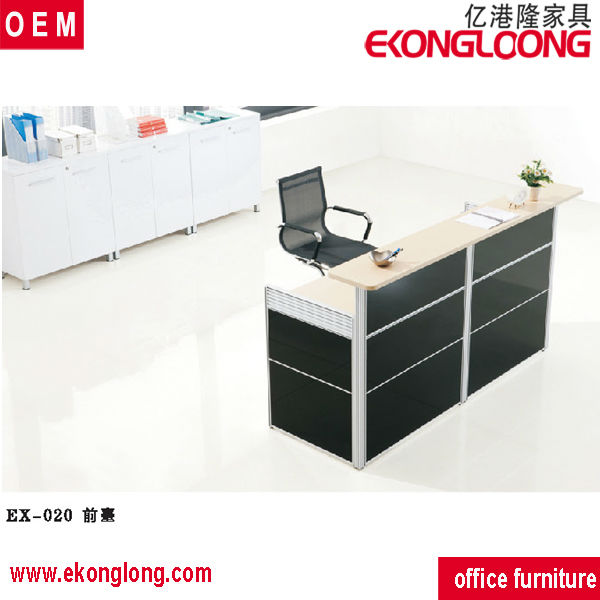 2016 white luxury wooden reception counter for office
