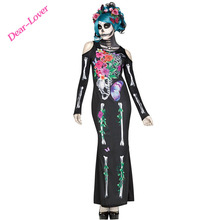 Sexy Halloween Beautiful Bones Dress Costumes for woman