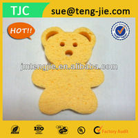 Natural&Ecofriendly Soft Kids Animal Bath Cellulose Sponge Cellulose Bath Sponge
