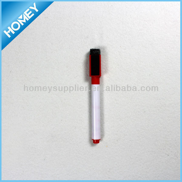 mini white board pen with eraser and magnet