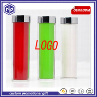 SGS certificate lipstick power bank 2600 metal for girls