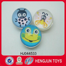High quality 38mm paper card rubber bouncing ball for gift with EN71