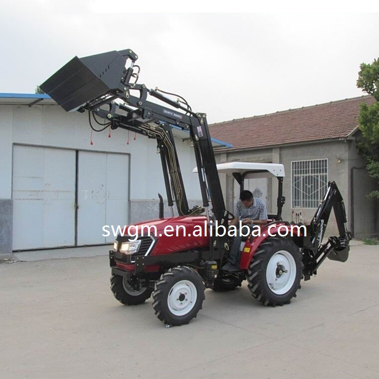 Hot selling 4x4 4WD Small farm tractor with Front end loader and Backhoe