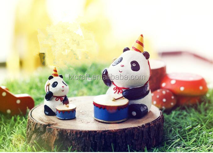 hot selling new products Chinese treasure animal souvenir decoration resin Panda figure